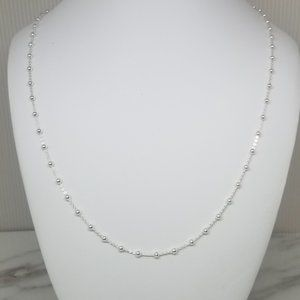 Sterling Silver Fancy Ball Chain Necklace